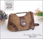 Rectangle Rattan Bag BFBE.RT58.CT