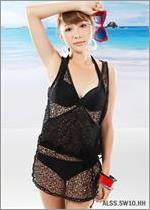 Sexy Black Mesh Fashion Swimsuit ALSS.SW10.HH