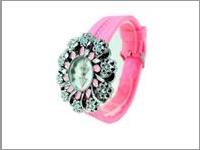 Jam Tangan Wanita Flower Diamond Stabillo Watch JTWR.GSV7.PK