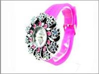 Jam Tangan Wanita Flower Diamond Stabillo Watch JTWR.GSV7.FT