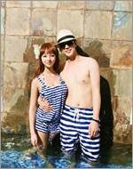 Baju Couple Summer beach Stripes VBCP.CJS2.B0